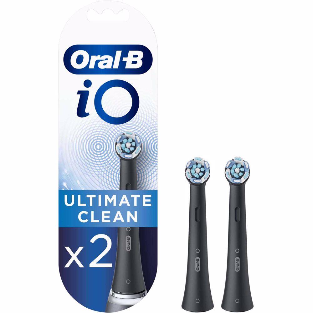 Oral-B opzetborstels iO Ultimate Clean Zwart (2 stuks)