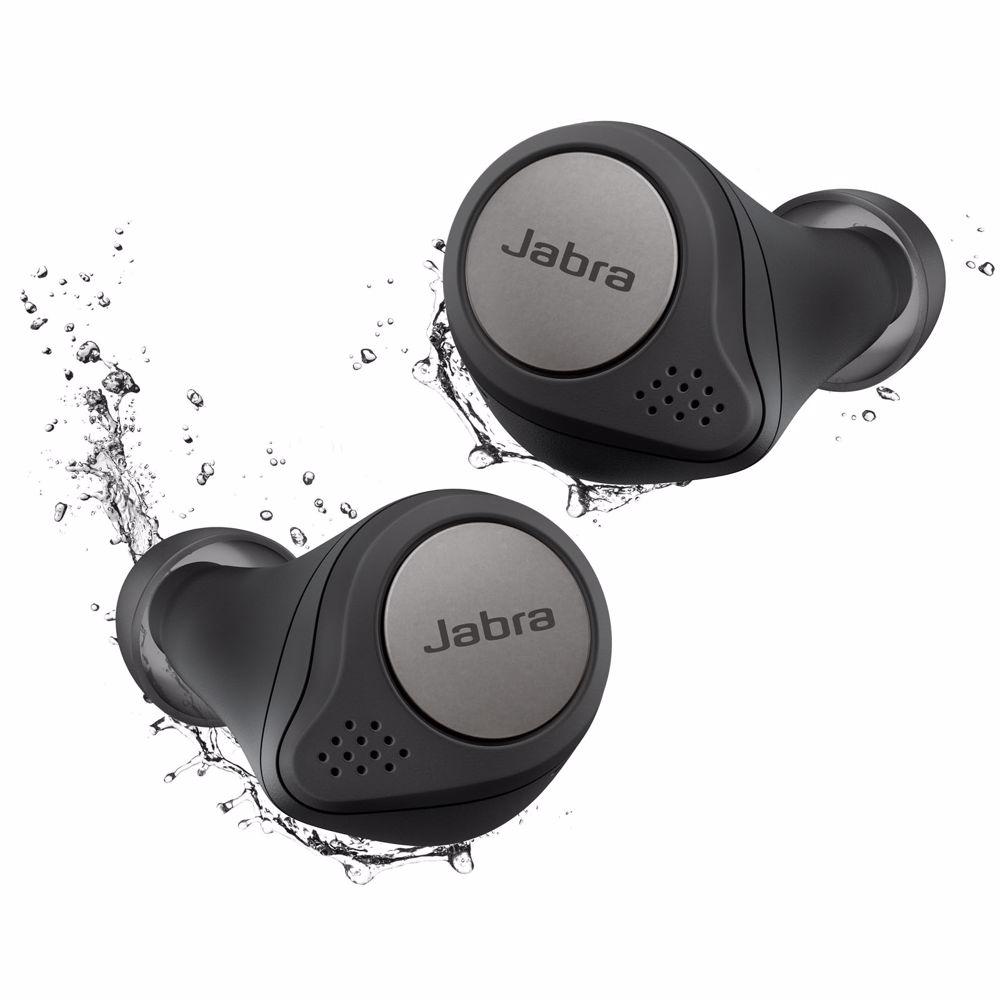 Jabra draadloze hoofdtelefoon Elite Active 75T (Titanium/Zwart)