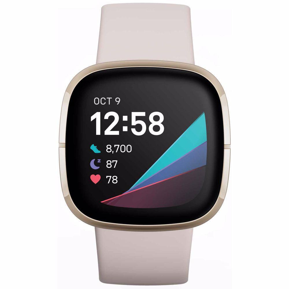 Fitbit smartwatch Sense (Wit/Goud)