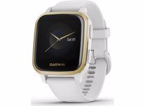 Garmin smartwatch Venu Sq (Zwart/Goud) Band (Wit)