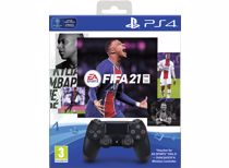 Sony PS4 Wireless Dualshock 4 V2 Controller + FIFA 21 (PS4)