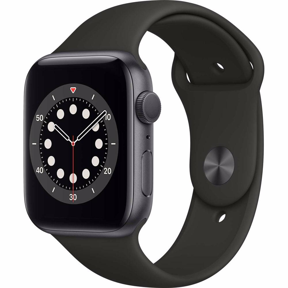 Apple Watch Series 6 GPS 44mm (Zwart) Sportband