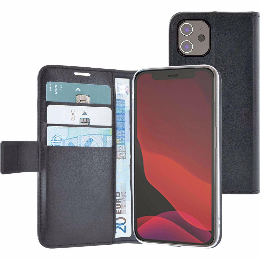 Azuri telefoonhoesje iPhone 12 Mini Walletcase (Zwart)