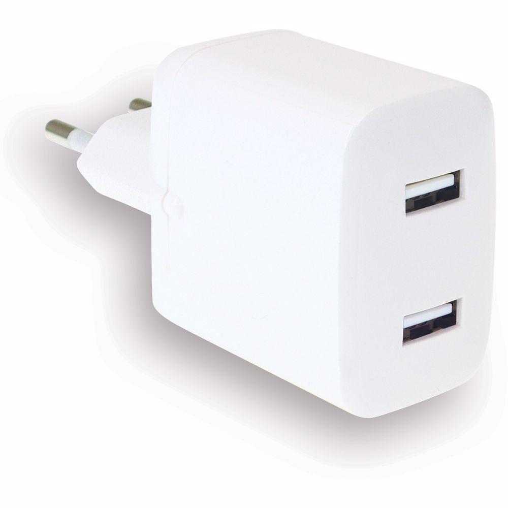 WeFix dubbele USB-A wandlader (Wit)