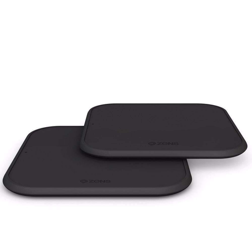 ZENS Single Fast Wireless Charger draadloos twinpack (Zwart)