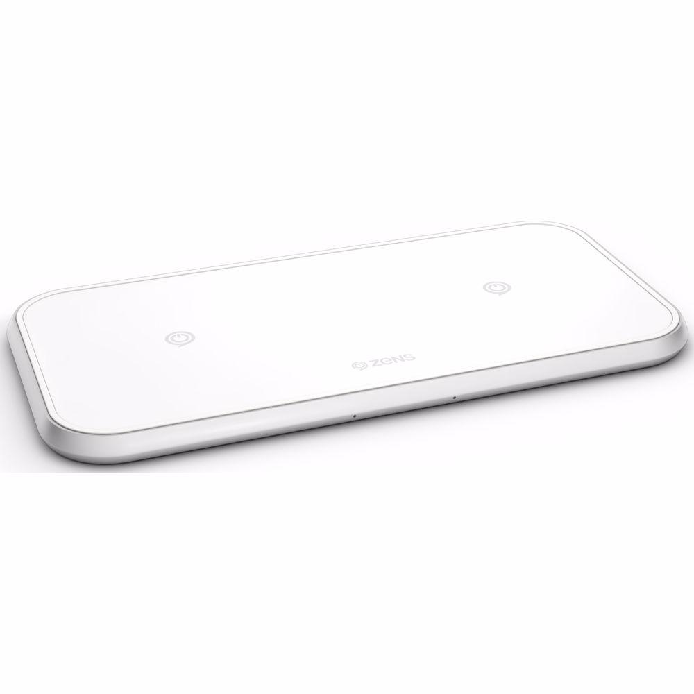 ZENS Dual draadloze oplader 10W (Wit)