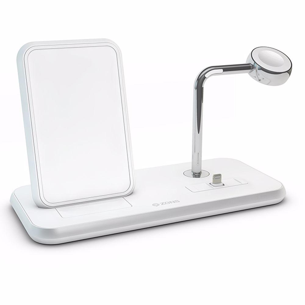 ZENS Stand + Dock + Stand Aluminium draadloze lader (Wit)