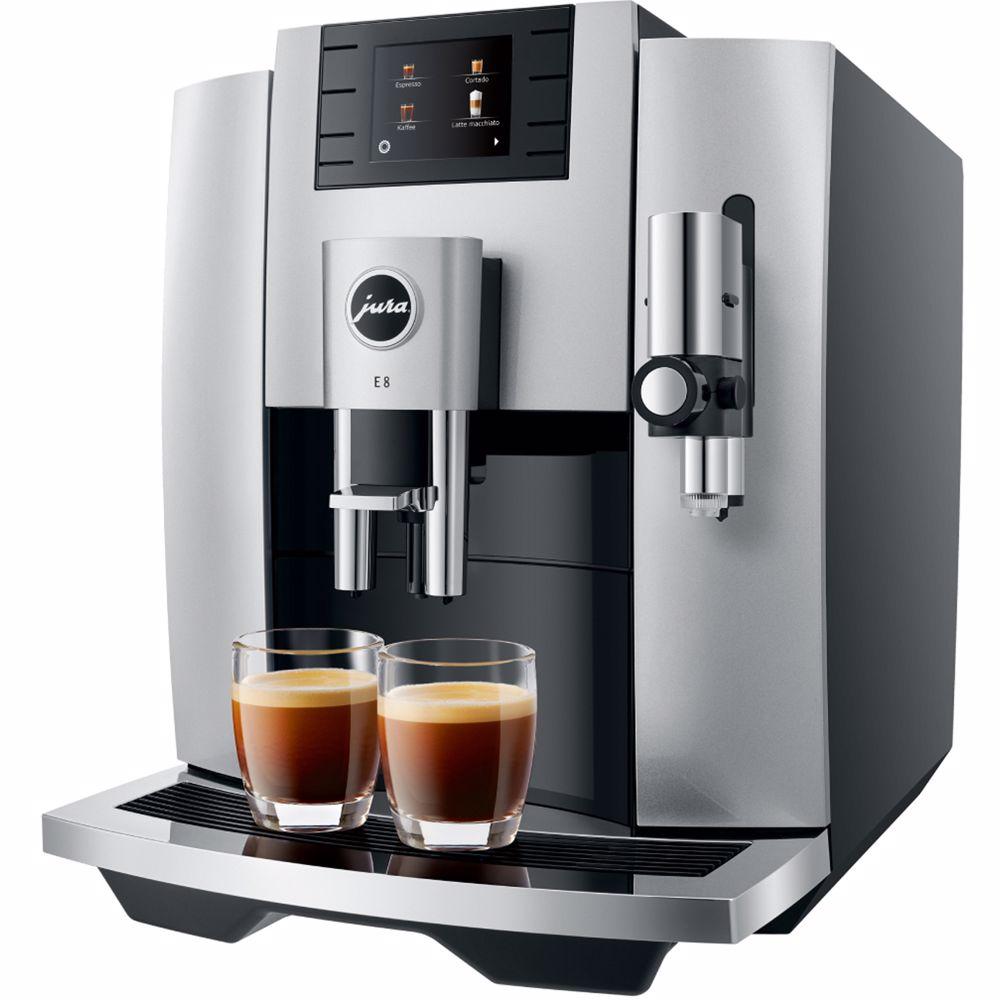 Jura espresso apparaat E8 (Moonlight Silver)