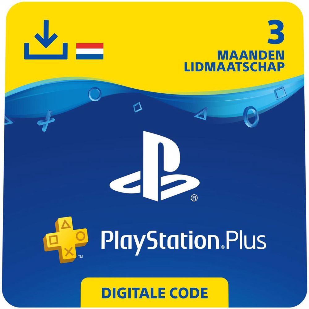 Sony PlayStation Plus 3 maanden - direct download