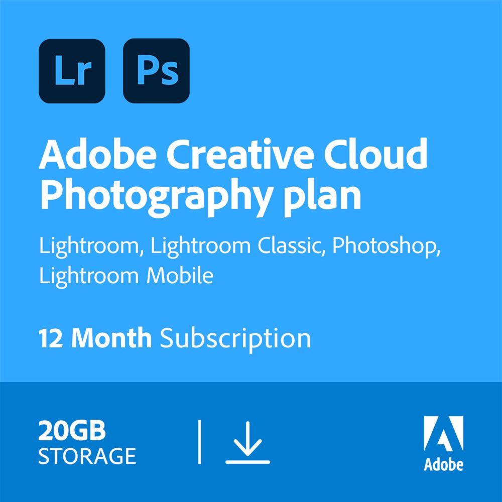 Adobe Photography Plan Creative Cloud 20GB 12mnd/1app (PC/MAC)