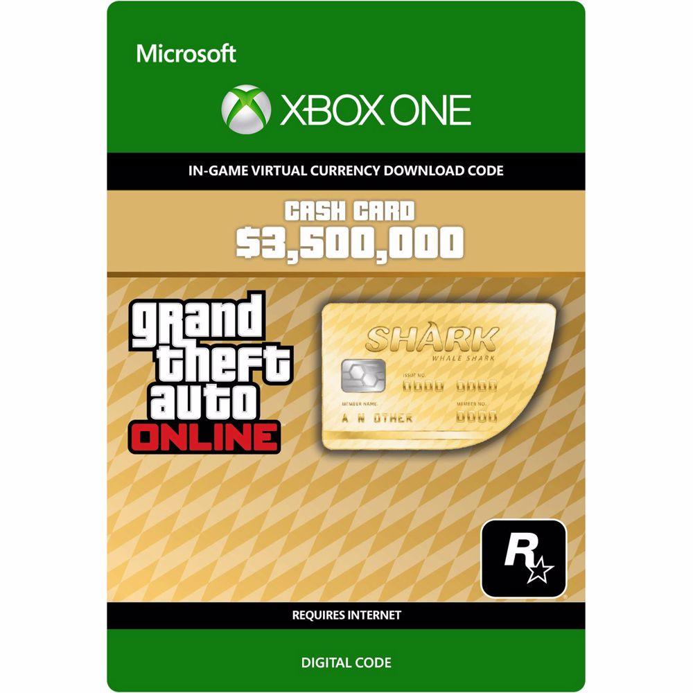 GTA 5 - Whale Shark Cash Card: $ 3.500.000 Xbox One – DLC