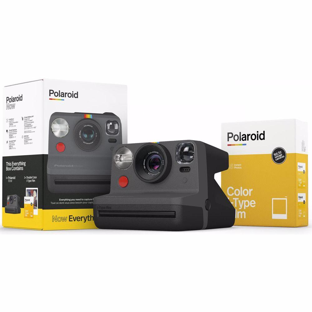 Polaroid analoge camera Now Everything (Zwart)