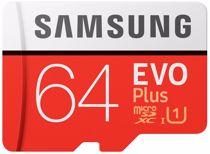 Samsung micro SD geheugenkaart EVO+64GB MICROSD CLASS10