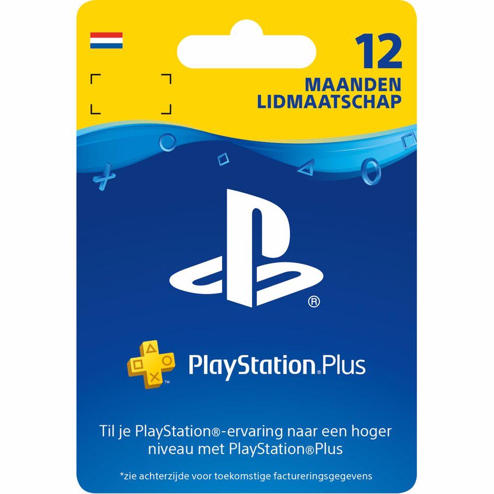 Sony PlayStation Plus 12 maanden - fysieke kaart