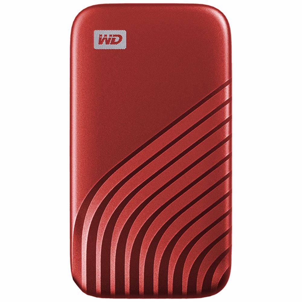 Western Digital externe SSD 500GB My Passport (Rood)