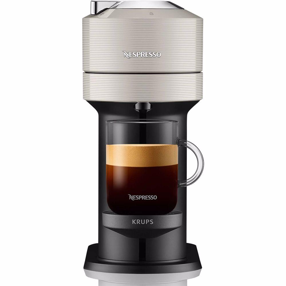 Nespresso Krups koffieapparaat Vertuo Next XN911B Bundel (Grijs)