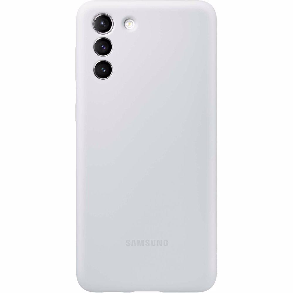 Samsung telefoonhoesje S21+ Silicone (Phantom Gray)