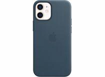 Apple leren telefoonhoes iPhone 12 Mini (Blauw)