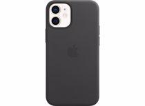 Apple leren telefoonhoes iPhone 12 Mini (Zwart)