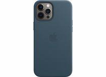 Apple leren telefoonhoes iPhone 12 Pro Max (Blauw)