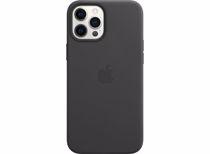 Apple leren telefoonhoesje iPhone 12 Pro Max (Zwart)