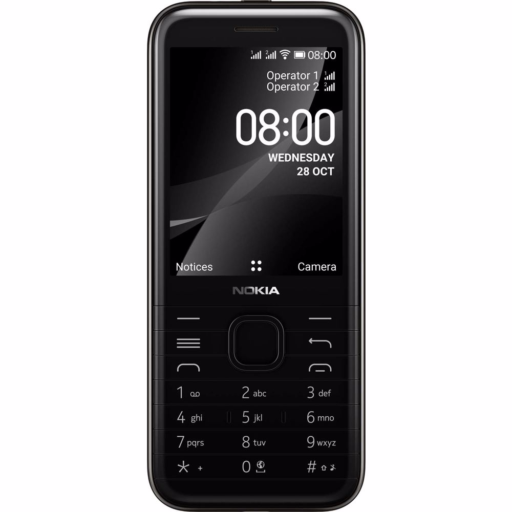 Nokia mobiele telefoon 8000 (Zwart)