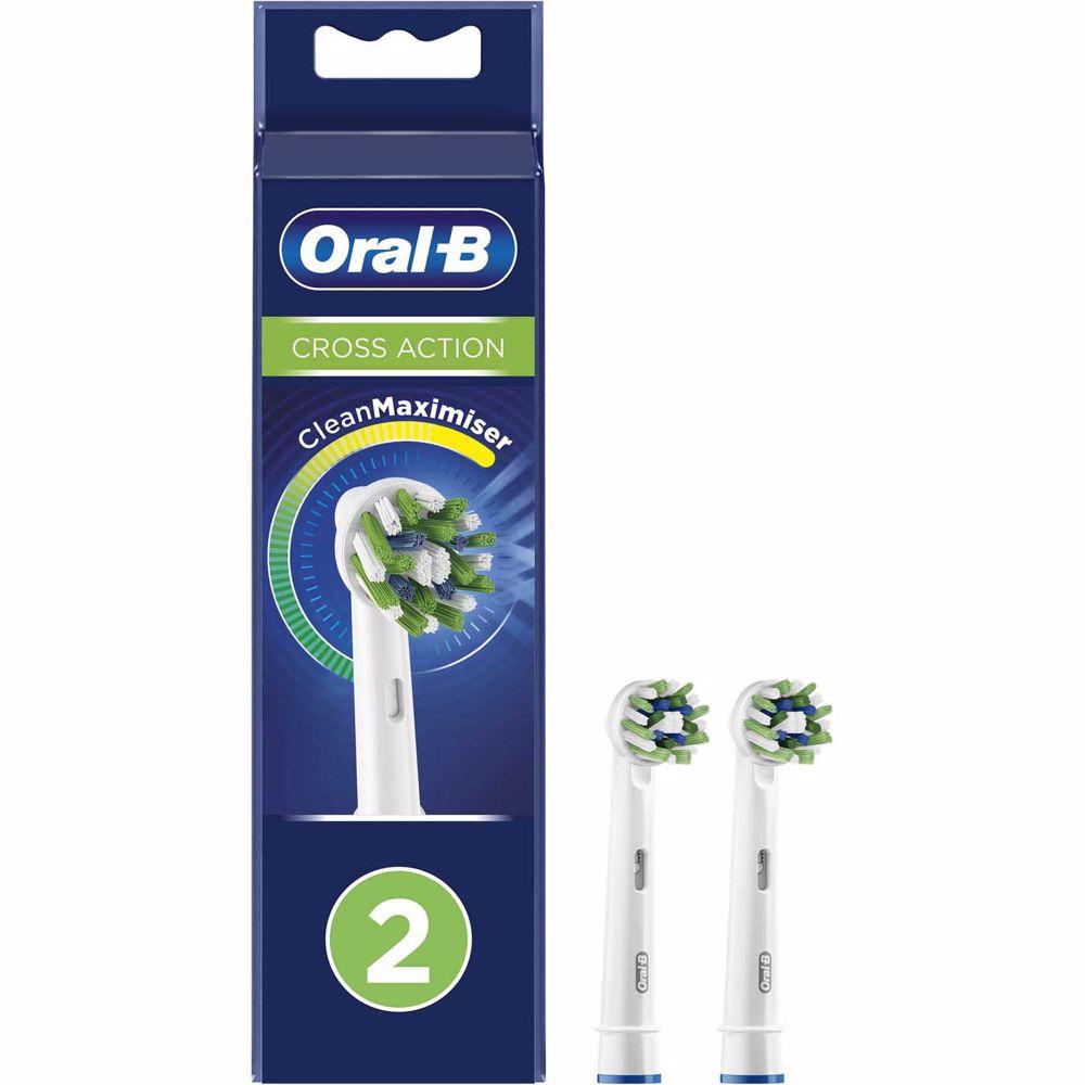 Oral-B opzetborstels CrossAction (2 stuks)