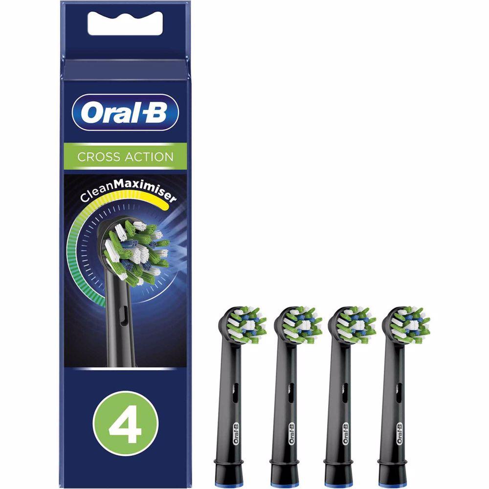 Oral-B opzetborstels CrossAction Zwart (4 stuks)
