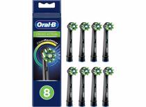 Oral-B opzetborstels CrossAction Zwart (8 stuks)