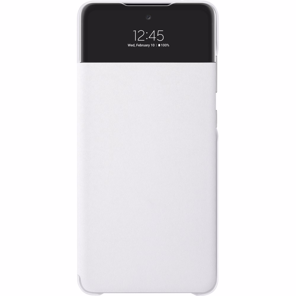 Samsung telefoonhoesje A72 Wallet Cover + View (Wit)