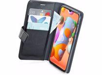 Azuri telefoonhoesje Samsung Galaxy A12 Wallet case (Zwart)