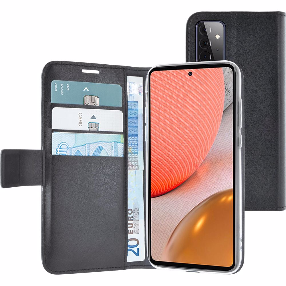 Azuri telefoonhoesje Samsung Galaxy A72 Wallet case (Zwart)