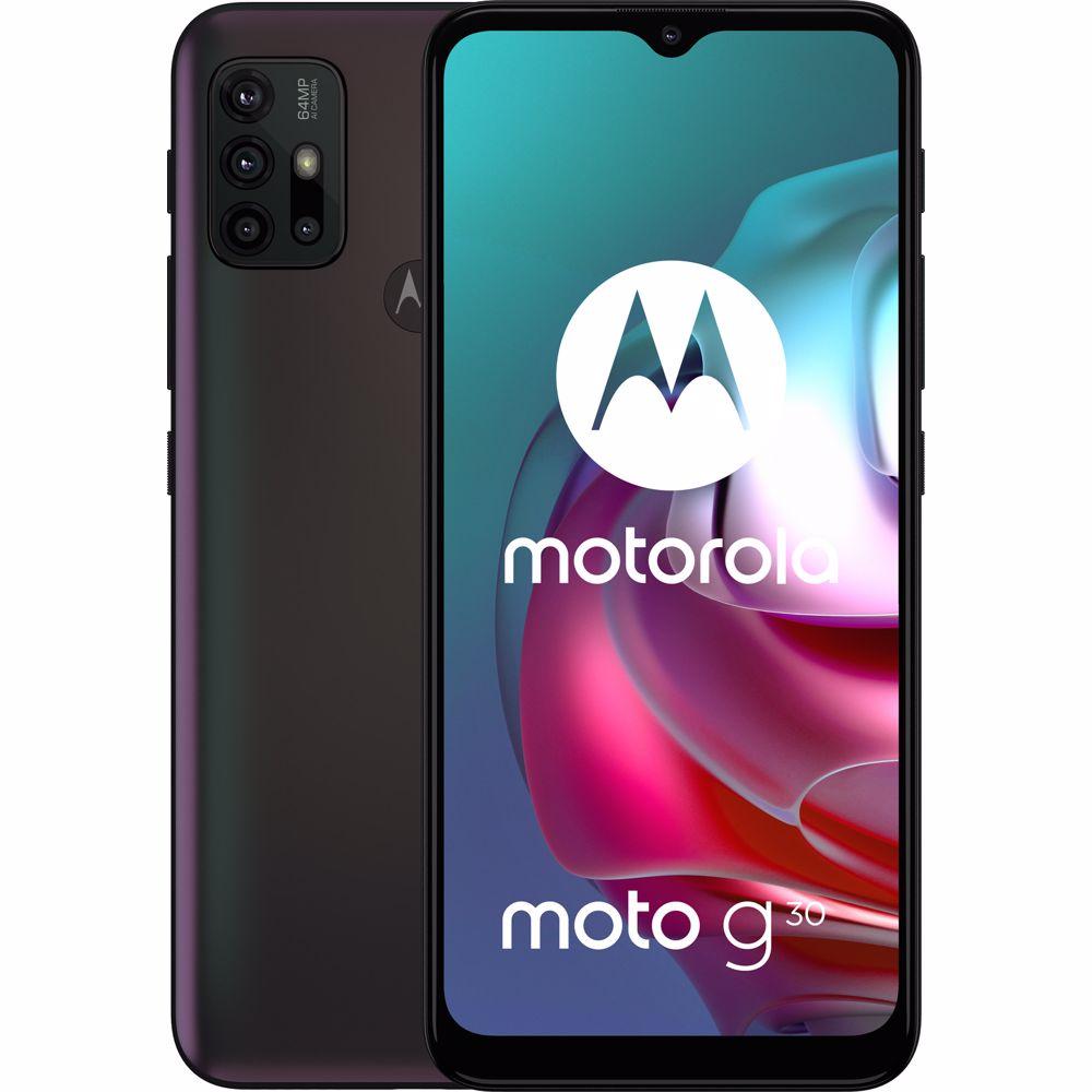 Motorola smartphone Moto G30 (Zwart)