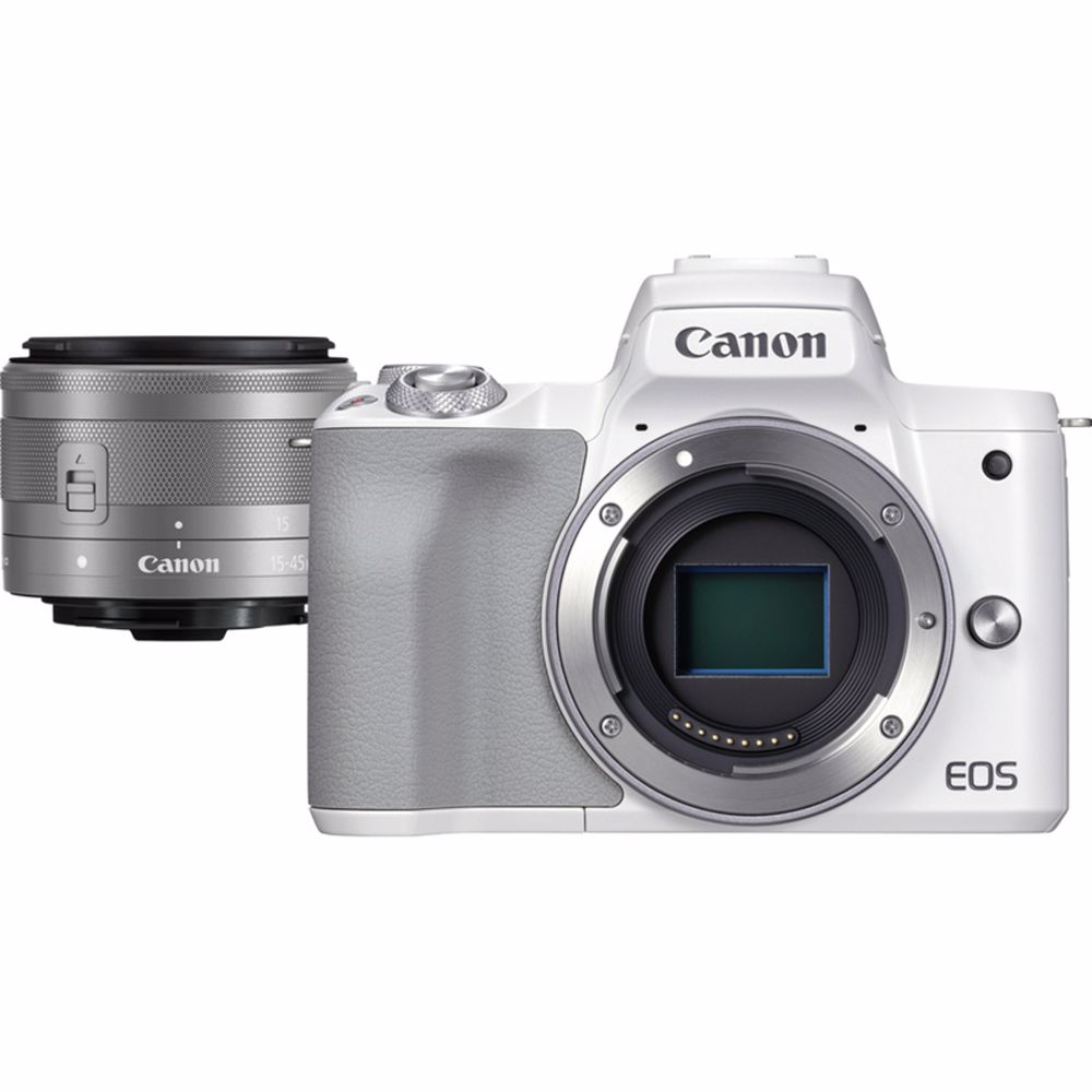 Canon systeemcamera EOS M50 Mark II M15-45 S (Wit)