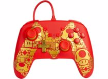 PowerA Enhanced Wired Controller Switch (Mario Gold M)