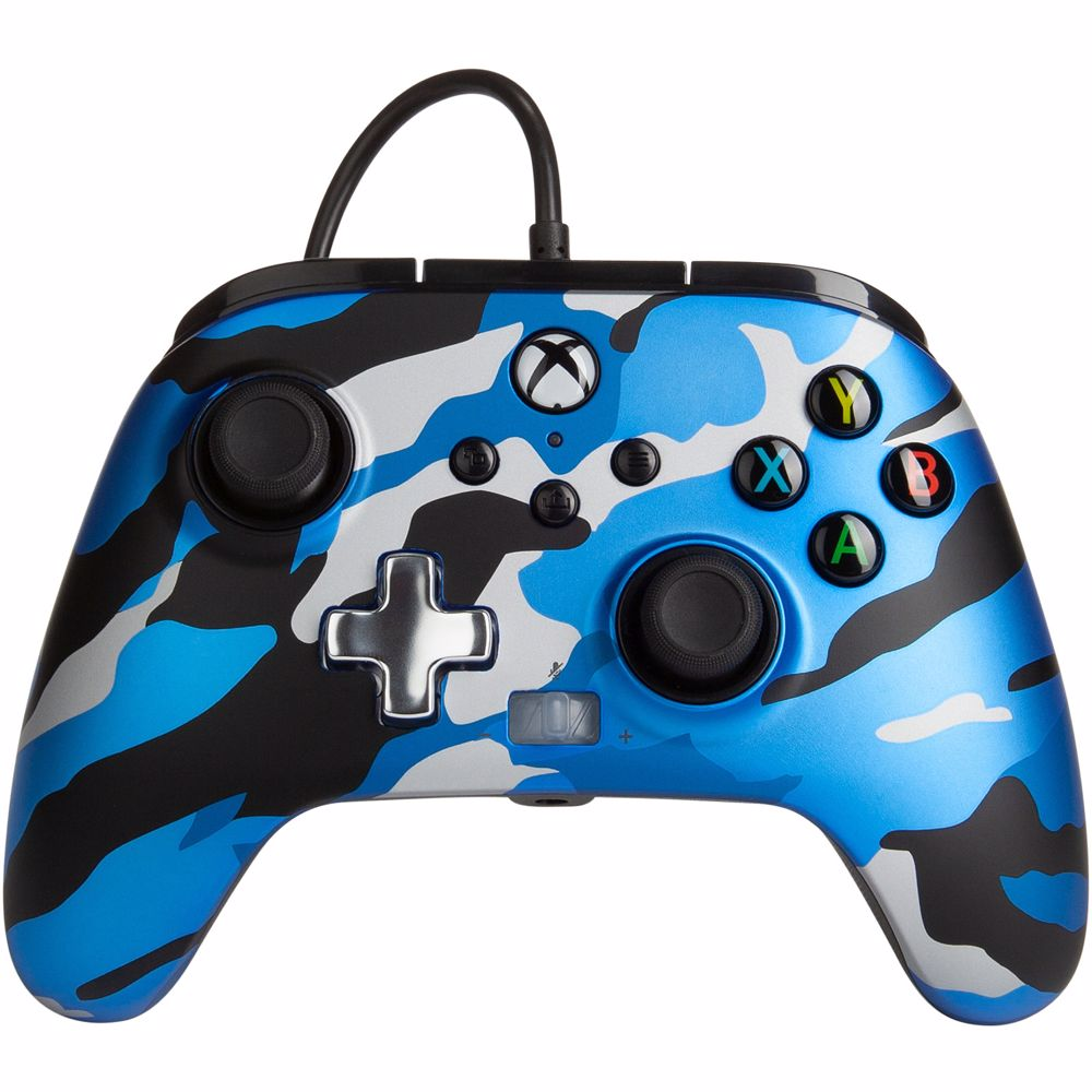 PowerA Enhanced Wired Controller Xbox (Blauw camouflage)