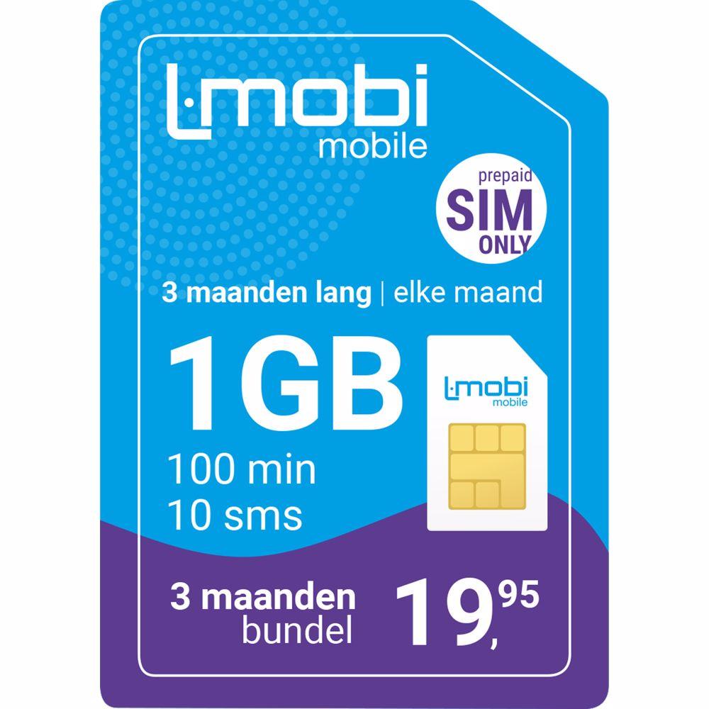 L-Mobi prepaid simkaart 3 maanden 1GB