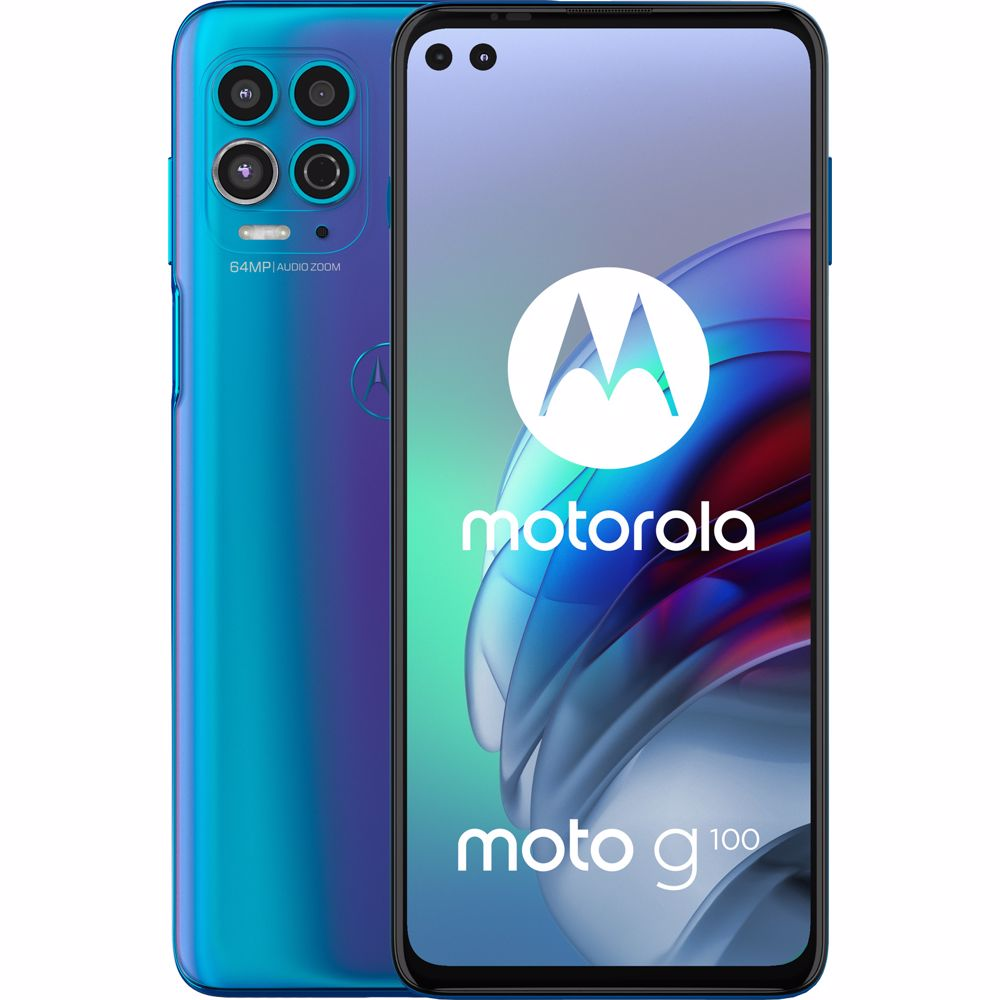 Motorola smartphone Moto G100 (Blauw)