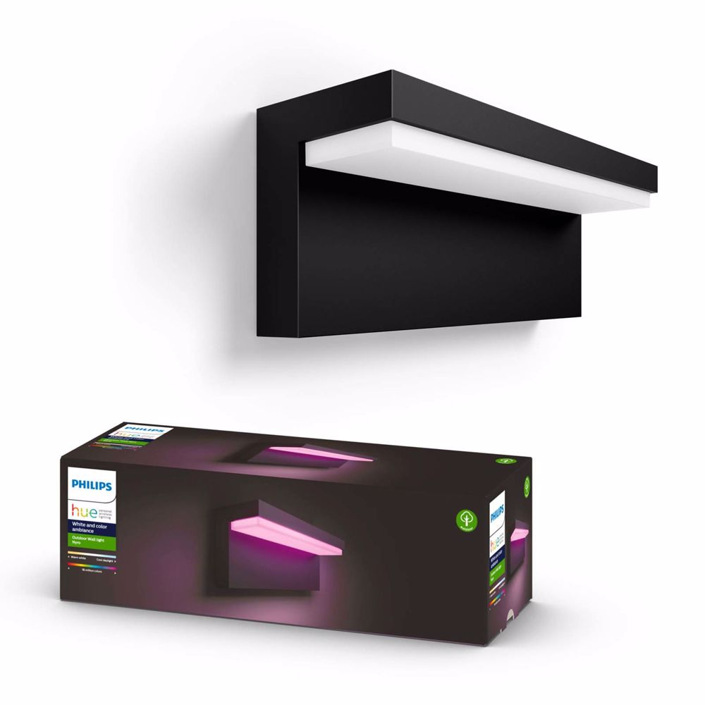 Philips Hue NYRO buitenwandlamp wit en gekleurd licht (Zwart)