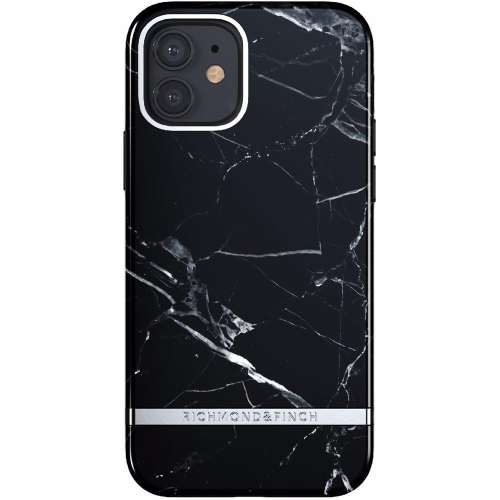 Richmond & Finch telefoonhoesje iPhone 12/12 Pro (Zwart marmer)