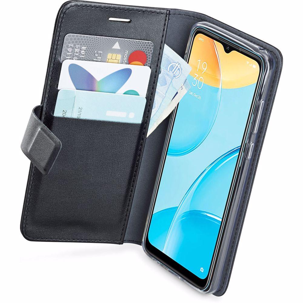 Azuri telefoonhoesje OPPO A15 Wallet case (Zwart)
