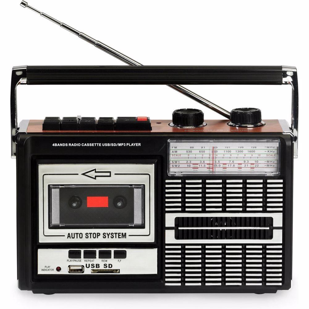 Ricatech draagbare retro radio/cassette speler PR85