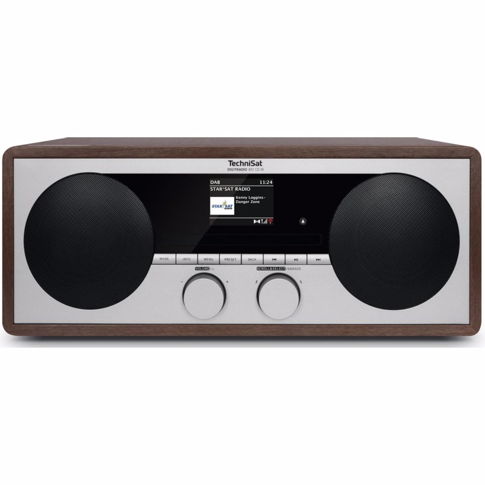Technisat DAB+ radio DigitRadio 451 CD IR (Hout)