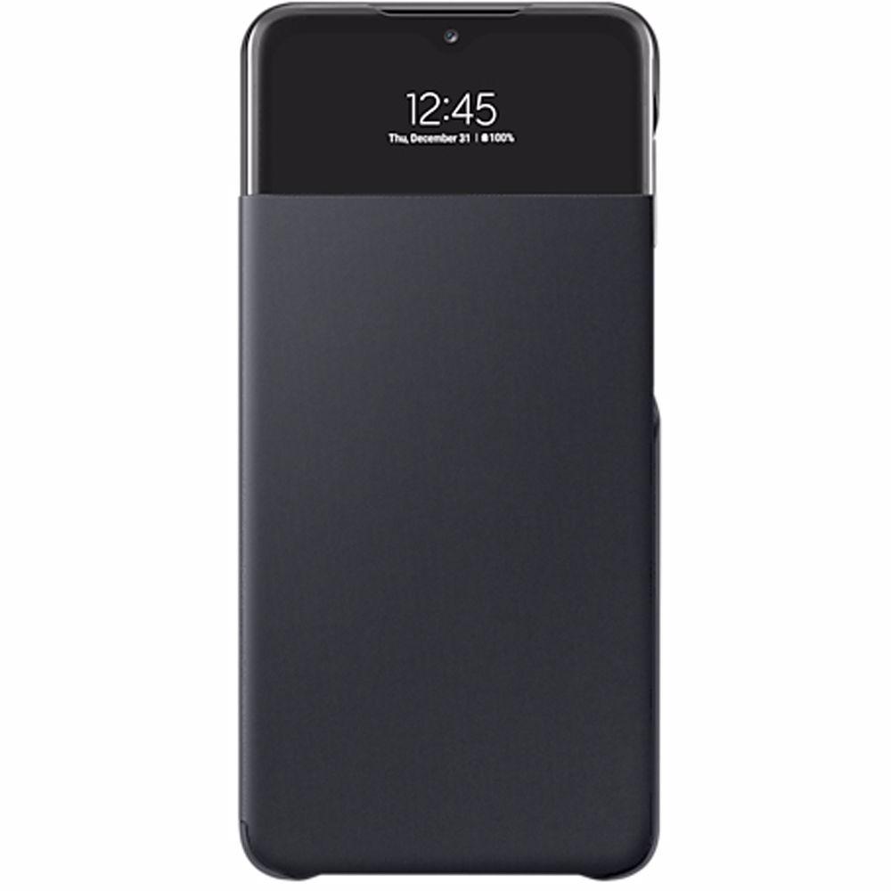 Samsung telefoonhoesje A32 5G Wallet Cover + View (Zwart)