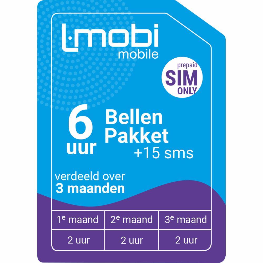 L-Mobi prepaid simkaart 3 maanden (120 minuten & 15 SMS)