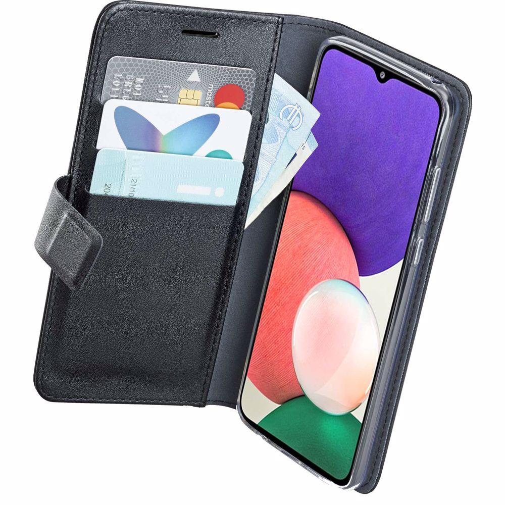 Azuri telefoonhoesje Samsung Galaxy A22 Wallet Case (Zwart)