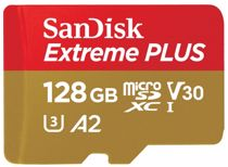 SanDisk micro SD geheugenkaart 128GB Extreme Plus
