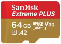 SanDisk micro SD geheugenkaart 64GB Extreme Plus