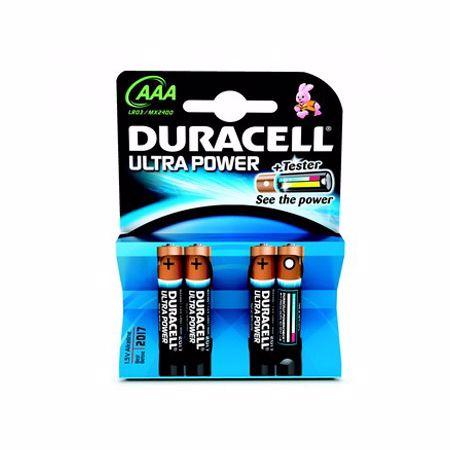Duracell mini penlight batterijen Ultra Power LR03/AAA (4 stuks)