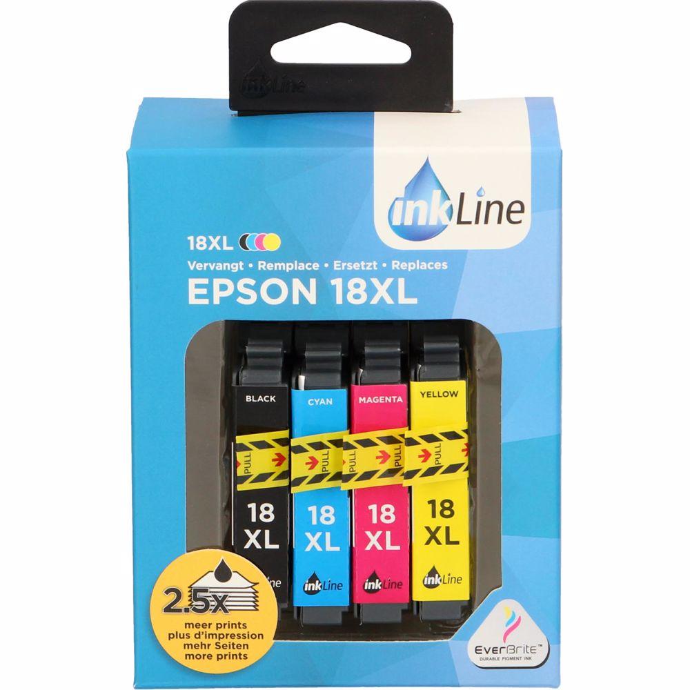 Inkline voordeelpak INE18XL voor Epson T18 serie